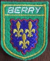 Patch Écusson Tissu Touristique : France - Berry - Blason - Escudos En Tela