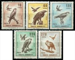 TURKEY 1967 (**) - Mi. 2070-74, Bird Pictures On Plane Stamps, Airmail - Airmail