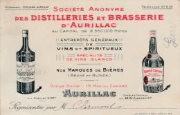 -  CPA - 15 - AURILLAC - AVIS DE PASSAGE, Brasserie D'Aurillac - 067 - Aurillac