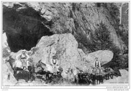 AX LES THERMES MONTAGNES D ORLU  CARAVANES DE MULETS AU LAC DE NAGUILLES ( LOT V5) - Ax Les Thermes