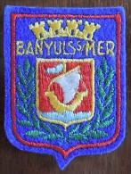 Patch Écusson Tissu Touristique : France - Banyuls Sur Mer - Ecussons Tissu