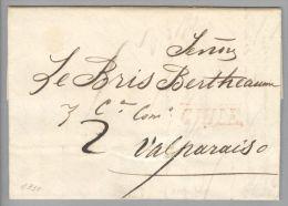 Chile 1830-08-29 Brief Mit Inhalt Nach Valparaiso - Chili