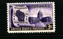 UNITED STATES/USA - 1948  WISCONSIN  MINT NH - Stati Uniti