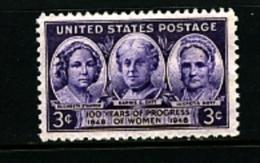 UNITED STATES/USA - 1948  PROGRESS OF WOMEN  MINT NH - Stati Uniti