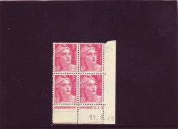 N° 716 - 3,00F Marianne De GANDON - C De C+D - 1° Tirage Du 1.3.46 Au  12.3.46 - 11.03.1946 - 1940-1949