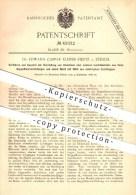 Original Patent - Dr. Edward Caspar Kleiner-Fiertz In Zürich , 1886 , Herstellung Von Aluminium U. Anderem Leichtmetall - Documents Historiques