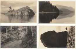 San Juan Islands Washington, Profile Rock, McCormack Photographer, Lot Of 4 C1900s/10s Vintage Real Photo Postcards - United States