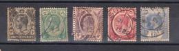 Malacca-Singapore : Straits Settlements  -  1918-21.  George V.  Complete Set. Timbri Lusso - Straits Settlements