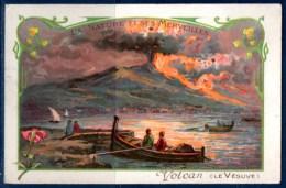 Chromo, La Nature Et Ses Merveilles, Les Volcans : Le Vésuve, Une éruption. - Tea & Coffee Manufacturers