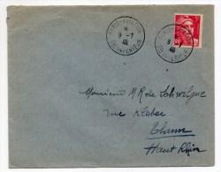 1946 - ENVELOPPE De PARIS AVIATION Avec GANDON - Postmark Collection (Covers)