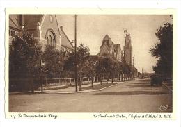 Cp, 62, Le Touquet-Paris-Plage, Le Boulevard Dalor, L'Eglise Et L'Hôtel De Ville, Voyagée 1950 - Le Touquet