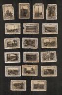 Barcelona 18 Viñetas Vistas De Barcelona 1929 - Viñetas De Fantasía