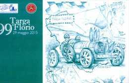 X 99^ TARGA FLORIO BUGATTI ALBERT DIVO BOLLI AFFRANCATURA NON VIAGGIATA NUOVA - Rally