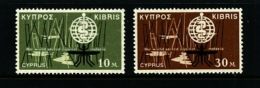 CYPRUS - 1962  MALARIA  ERADICATION  SET  MINT NH - Nuovi