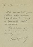Lettre Autographe D'ARISTIDE BRUANT (14 Février 1901) à Henry Ricard, Député De La Côte D'Or (Cezy, Beaune) - Autographes