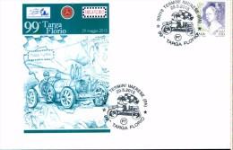 99^ TARGA FLORIO BUGATTI ALBERT DIVO Busta Fdc BOLLI AFFRANCATURA NON VIAGGIATA NUOVA - Automobilismo