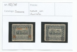 1916 ERITREA - ITALIA, SOBRECARGA DE ASMARA Y TORINO - Eritrea