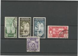 1930-38 TRIPOLITANIA - ITALIA, LOTE DE 5 VALORES - Tripolitania
