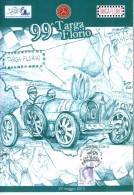 X 99^ TARGA FLORIO  FOLDER BUSTA E CARTOLINA BUGATTI ALBERT DIVO NUOVO NUMERATO  Circolo Filatelico Termini Imerese - Automobilismo