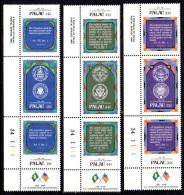 Palau 1987 US Constitution Bicentenary Set Of 9 (3 Strips Of 3), MNH - Palau