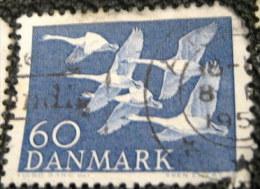 Denmark 1956 Birds - Northern Countries Issue Cygnus Cygnus 60ore - Used - Danemark