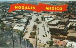 Nogales Arizona, US-Mexico Border Fence, Nogales Mexico On Left, Street Scene, C1960s Vintage Postcard - Other