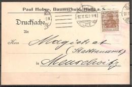Deutsches Reich - Ganzsache - Halle, Meuselwitz 1916 - Allemagne
