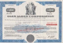 Action USA 5000 Dollars Glen Alden Corporation - Industrie