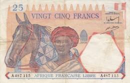Billet 25 F Afrique Française Libre - Otros
