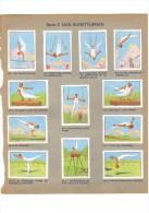 12 Vignettes / Timbres Publicitaires De Chocolats De La Suisse, 1938, Gymnastique - Erinofilia