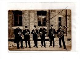Groupe De Musiciens , Carte Photo - Music And Musicians