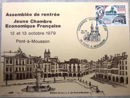France - Carte Postale - Jeune Chambre économique - Pont-à-mousson - 1979 - YT  1947 - Lettres & Documents