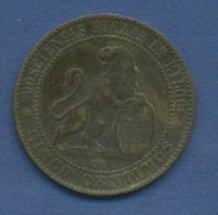 Spanien 5 Centimos 1870 OM Provisorische Regierung KM 662 (m1057) - Zonder Classificatie