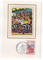 1970--Carte Maximum Soie--Jeux Mondiaux Des Handicapés Physiques (St ETIENNE-42)--signée Chesnot--cachet ST ETIENNE--42 - Cartes-Maximum