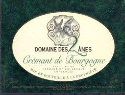 THEME ANIMAUX étiquette De Vin CREMANT DE BOURGOGNE DOMAINE DES 2 ÂNES ANE - Ezels