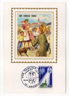 1971--Carte Maximum Soie-Aide Familiale Rurale(enfants,chien) -signée Chesnot--cachet  ANGERS--49 - Cartes-Maximum