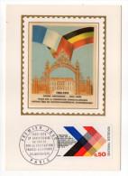1972-Carte Maximum Soie-10°coopération Franco-allemande-signée Chesnot--cachet  PARIS--75 - Cartes-Maximum