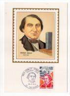 1973--Carte Maximum Soie--E.RENAN --signée Chesnot--cachet  TREGUIER--22 - Cartes-Maximum