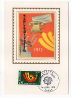 1973--Carte Maximum Soie--EUROPA----signée Chesnot--cachet  PARIS--75 - Cartes-Maximum