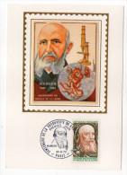 1973--Carte Maximum Soie-HANSEN--Découverte Du Bacille De La Lèpre--signée Chesnot--cachet PARIS--75 - Cartes-Maximum