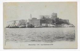 (RECTO / VERSO) MARSEILLE EN 1902 - N° 64 - LE CHATEAU D' IF -  BEAU CACHET ET TIMBRE DE MONACO - Festung (Château D'If), Frioul, Inseln...