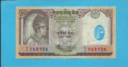 NEPAL - 10 Rupees - ND 2005 - P 54 - Sign. 16 - POLYMER Plastic -  King Gyanendra Bir Bikram - Népal