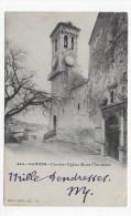 (RECTO / VERSO) CANNES EN 1902 - N° 449 - CLOCHER EGLISE MONT CHEVALIER-  BEAU CACHET ET TIMBRE DE MONACO - Cannes