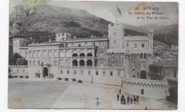 (RECTO / VERSO) MONACO EN 1914 - N° 28 - PALAIS DU PRINCE ET TETE DE CHIEN -  TIMBRE DE MONACO - Palacio Del Príncipe