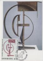 Carte  Maximum  1er  Jour   DANEMARK    Oeuvre   De   JACOBSEN   1988 - Cartoline Maximum