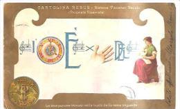 75110) Cartolina- Cartolina Rebus -viaggiata - Illustratori & Fotografie