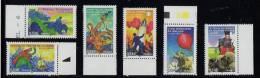 FRANCE-2005-série (6) YT N°3789** A 3794**-Héros De Roman Jules Verne Ballon Terre Lune Strogoff Lieues 0.53€ BDF - France