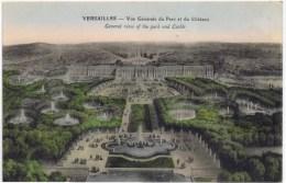 Cpa  VERSAILLES Vue Generale Du Parc Et Du Chateau - Versailles (Kasteel)