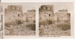 VUES DU MAROC 266.5170 MOULAY IDRISS MAISONS ARABES (PHOTO STEREOSCOPIQUE ANCIENNE) - Photos Stéréoscopiques