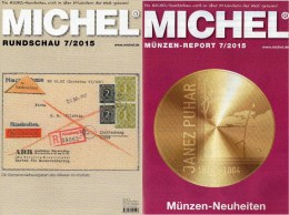 MICHEL Briefmarken Rundschau 7/2015 Neu 6€ New Stamp Of The World Catalogue And Magacine Of Germany ISBN 9 783954 025503 - Lesezeichen